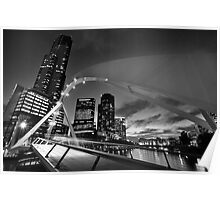 Rainbow Bridge and Eureka Tower [Black & White Version] Poster