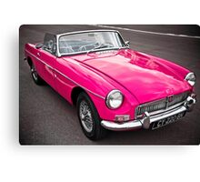 Pink convertible MG classic car Canvas Print