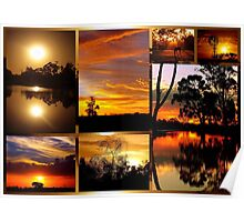Sunset Collage Poster