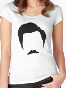 Swanson Mustache Man Women's Fitted Scoop T-Shirt