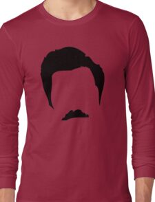 Swanson Mustache Man Long Sleeve T-Shirt