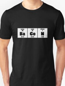 Elements of bacon geek funny nerd T-Shirt