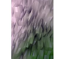 Abstract-Green-Pink Photographic Print