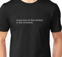re•cur•sion [ri-kur-zhuhn] n. See recursion. Unisex T-Shirt