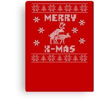 Reindeer Merry Christmas Canvas Print