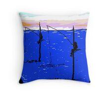 Fishing In The Sea  Throw Pillow