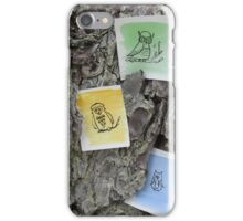Three owls in a tree iPhone Case/Skin