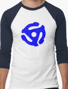Blue 45 RPM Vinyl Record Holder Men's Baseball ¾ T-Shirt