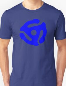 Blue 45 RPM Vinyl Record Holder Unisex T-Shirt