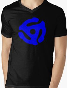 Blue 45 RPM Vinyl Record Holder Mens V-Neck T-Shirt