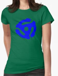 Blue 45 RPM Vinyl Record Holder Womens Fitted T-Shirt