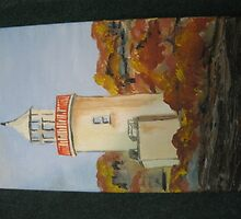The lighthouse, Scattery Island, Kilrush by Pauline Dunleavy