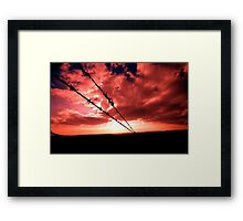 Fire Wire Framed Print
