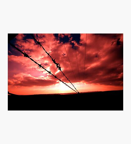 Fire Wire Photographic Print