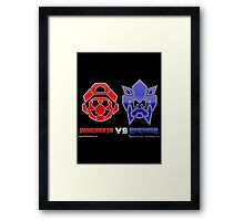 Console Wars: Mariobots vs Sonicons! Framed Print