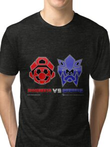 Console Wars: Mariobots vs Sonicons! Tri-blend T-Shirt