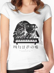 Shigatsu wa Kimi no Uso - Your lie in April Women's Fitted Scoop T-Shirt