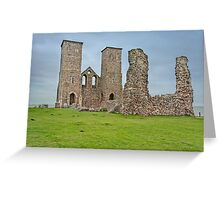 Ruins of Reculver Church, Herne Bay, Kent, UK. Greeting Card