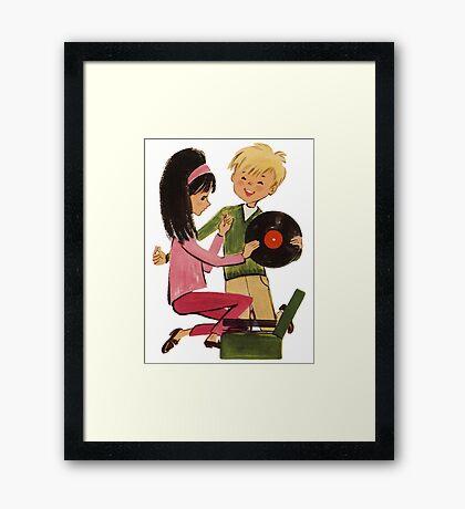 Kids Vinyl Record Love Framed Print