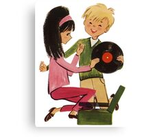 Kids Vinyl Record Love Canvas Print