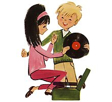 Kids Vinyl Record Love Photographic Print