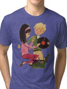 Kids Vinyl Record Love Tri-blend T-Shirt