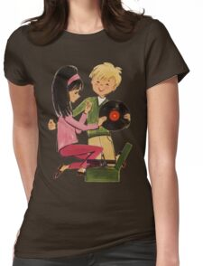 Kids Vinyl Record Love Womens Fitted T-Shirt