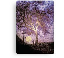 Tree. Sign. Moon. Canvas Print