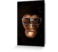 Monkey Elvis Greeting Card