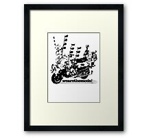 We Are The Mods Vespa Scooter Framed Print