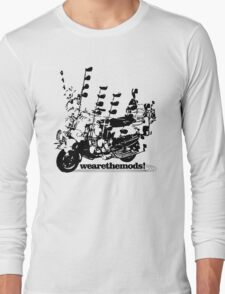 We Are The Mods Vespa Scooter Long Sleeve T-Shirt