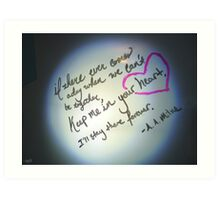 Whiteboard Love: Keep me in your heart... Art Print