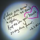 Whiteboard Love: Keep me in your heart... by Jayca