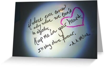 Whiteboard Love: Keep me in your heart... by Jayca