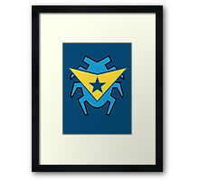 Blue Beetle and Booster Gold Framed Print