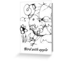 Bird with apple Greeting Card