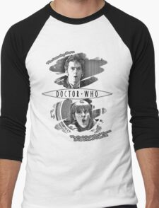 The Doctor and Donna Noble (with DW Logo) Men's Baseball ¾ T-Shirt