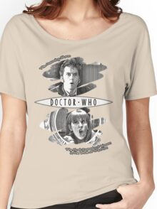 The Doctor and Donna Noble (with DW Logo) Women's Relaxed Fit T-Shirt