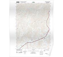 USGS Topo Map Oregon Quines Creek 20110831 TM Poster
