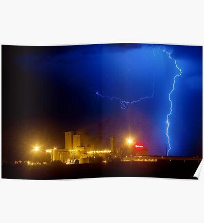 Budweiser the Right Lightning Strike Poster