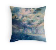 The Storm-Gold Coast Throw Pillow