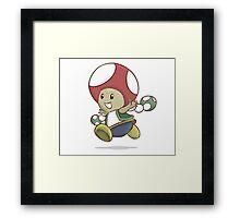 toad - mario bros Framed Print