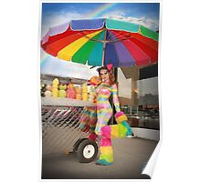 A Rainbow Rave Fruit Stand - Amanda Darling Poster