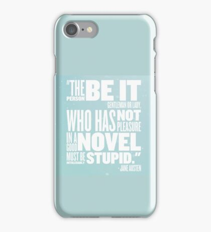 Intolerably Stupid Jane MINT iPhone Case/Skin