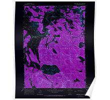 USGS Topo Map Oregon Shoestring Butte 281488 1964 24000 Inverted Poster