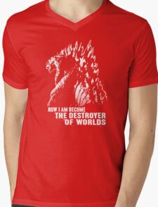 World Destroyer Mens V-Neck T-Shirt