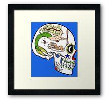 Aviation Mechanic - Day of the Dead Skull Framed Print