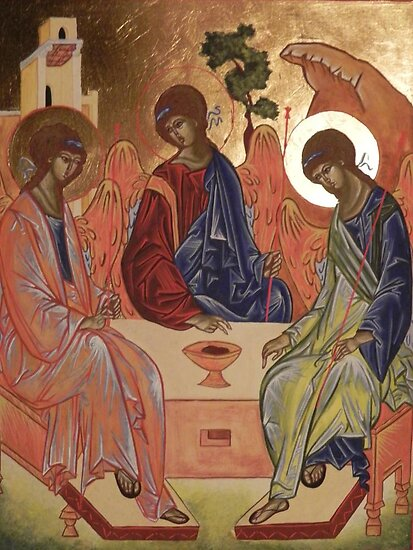 Icona della trinità by Margherita Bientinesi