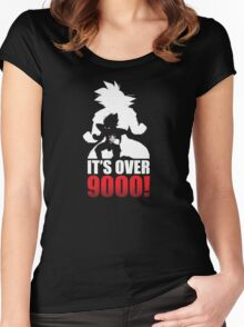 Over 9000 Women's Fitted Scoop T-Shirt