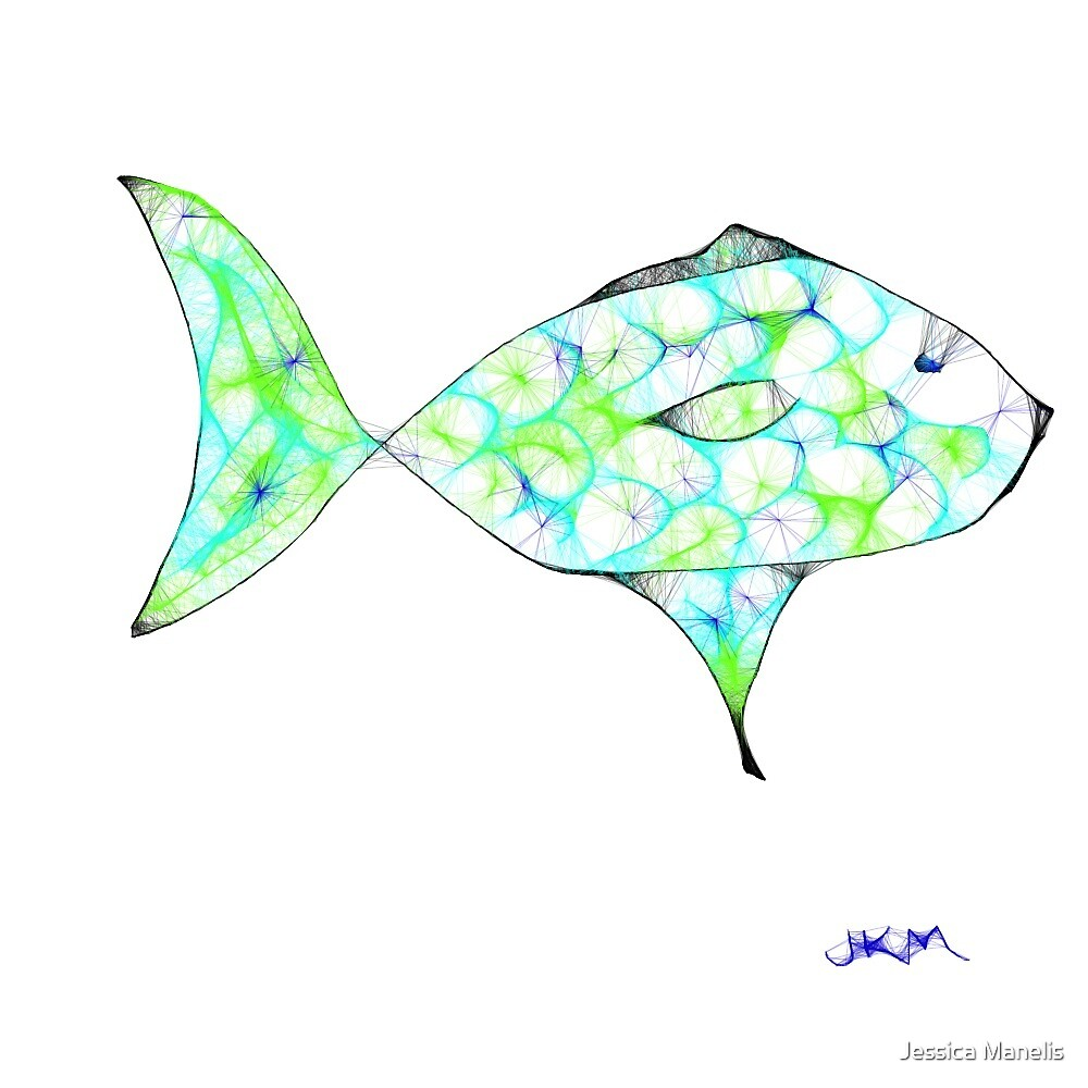 Scribble Fish by Jessica Manelis